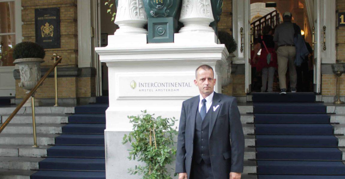 Lekker aan het werk bij het Intercontinental in Amsterdam